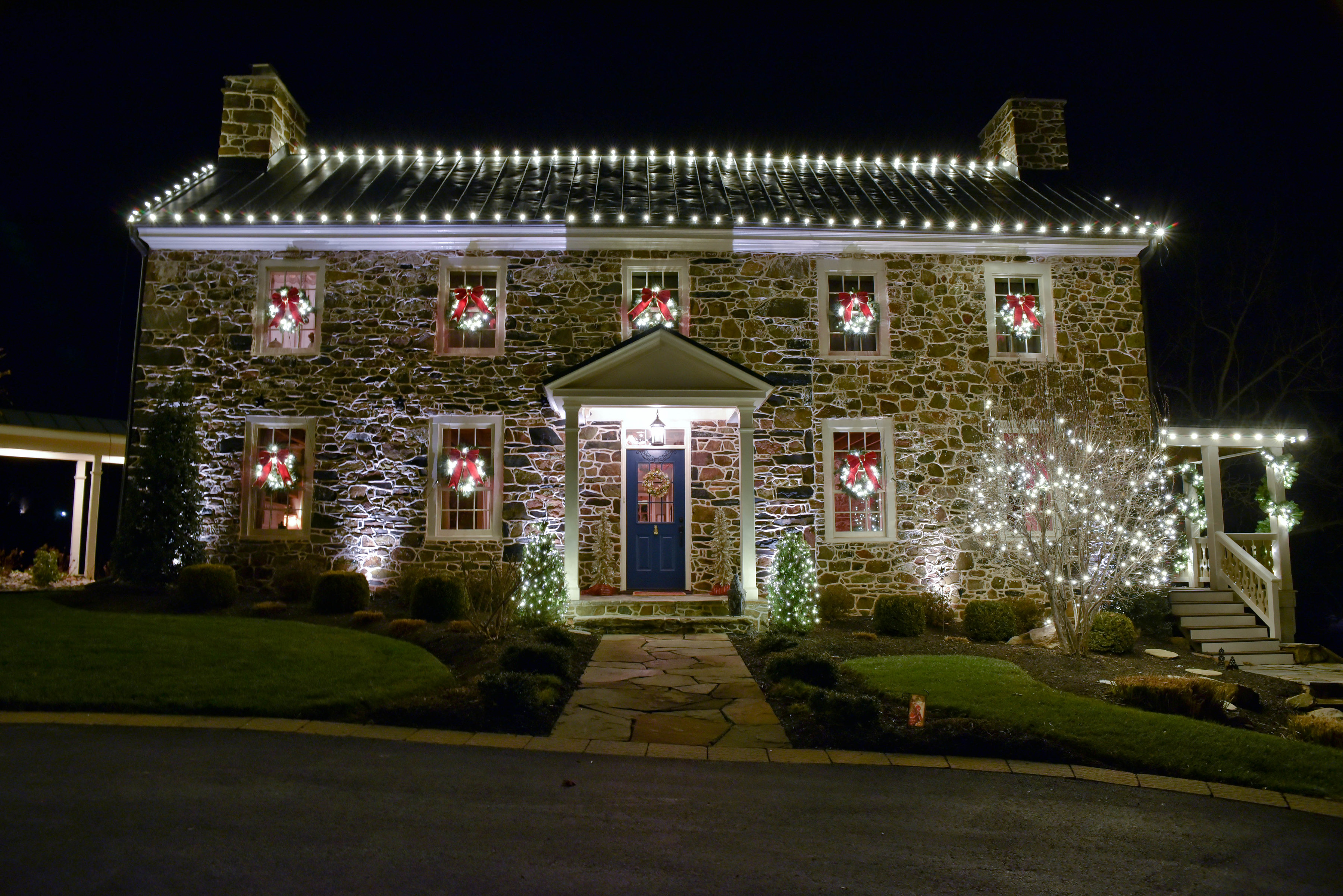 ... Of Unique And Creative Holiday Lighting Displays For Residential As  Well As Commercial Properties. String Lights, Snowflake Lights, Icicle  Lights, ...