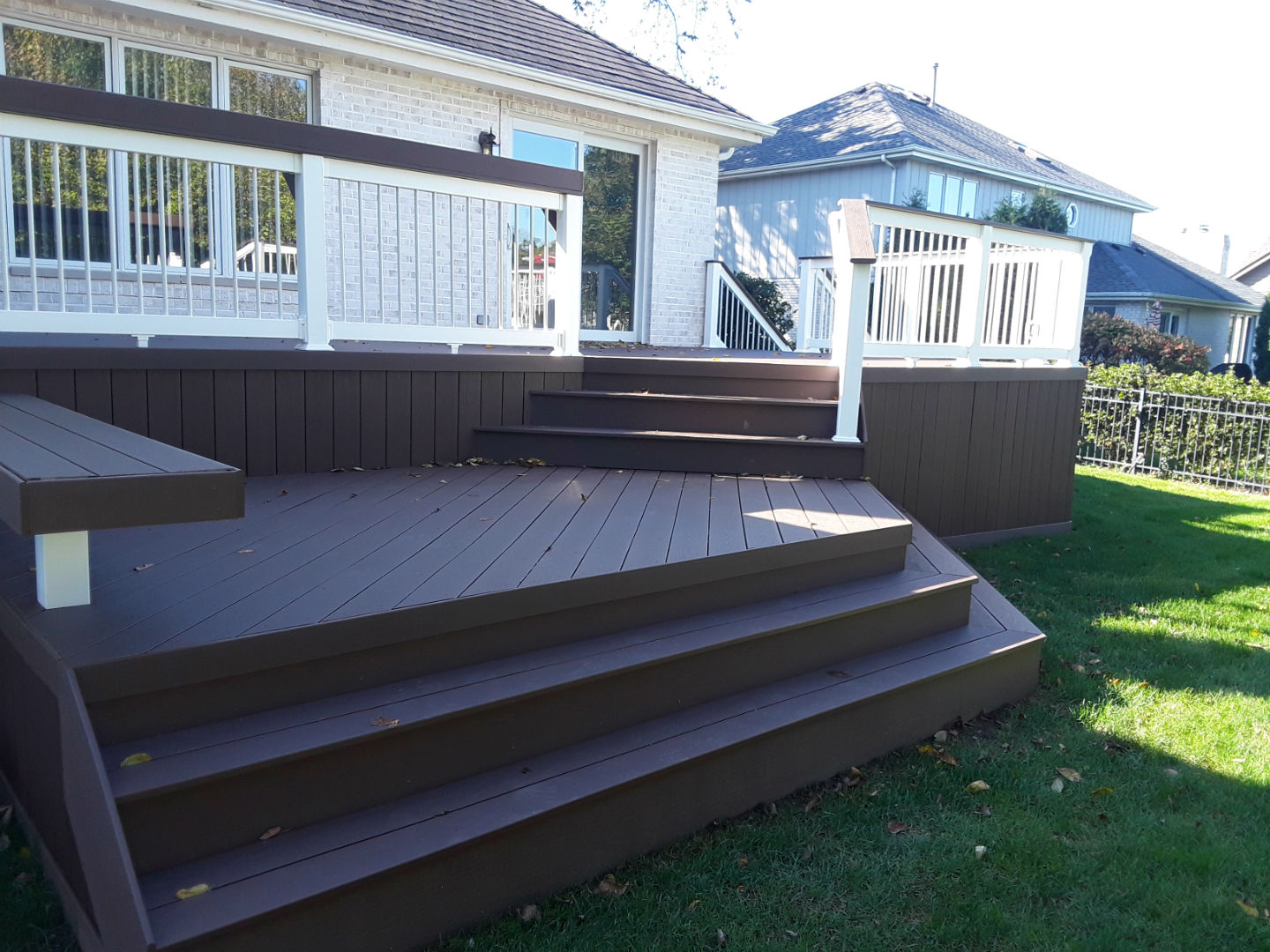 Multi-level Timbertech Deck in Naperville, IL Thumbnail