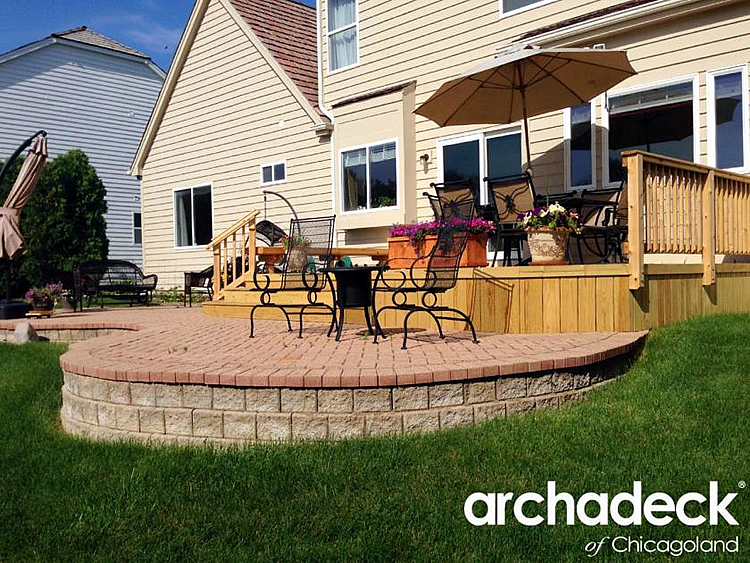 Wood Deck And Brick Patio In Palatine Illinois%205-19