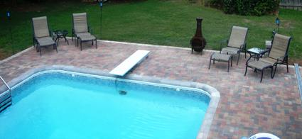The Paver Patio Around This Pool Is Made Using Belgard Pavers. The Border  That Goes Around The Pool Has An Eased Edge. We Added Anchors To The  Hardscape For ...
