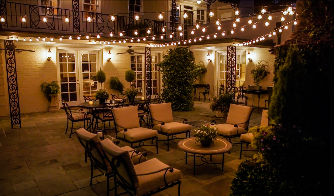 Take your dining patio or outdoor lounging space to the next level for an enhanced customer experience with our custom commercial string lighting. & Louisville Outdoor String Lighting