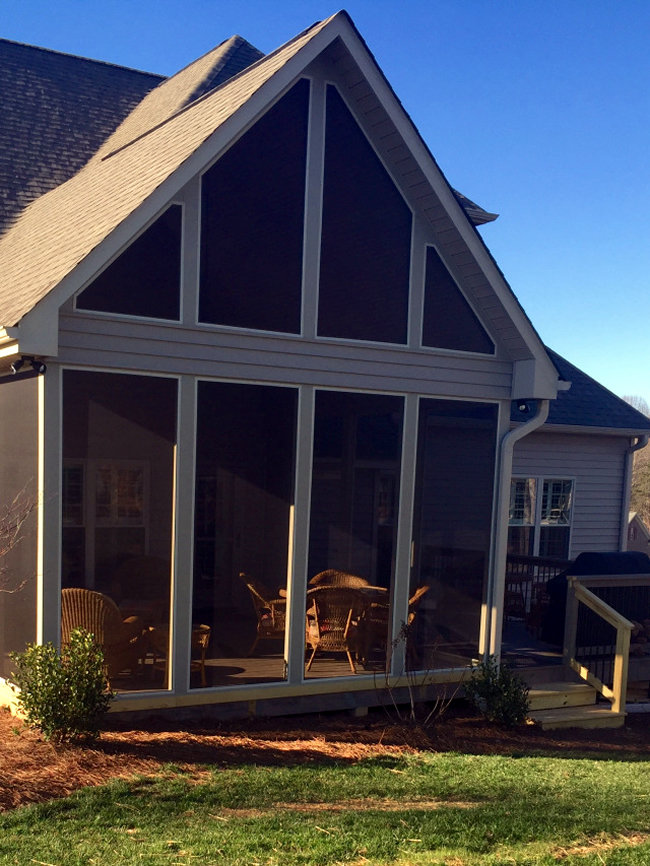 deck to screened porch conversion