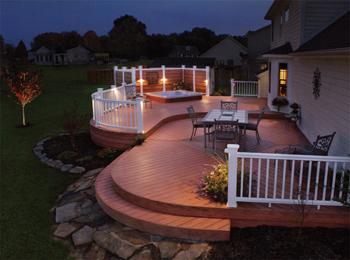Pittsburg Deck with Outdoor Lighting