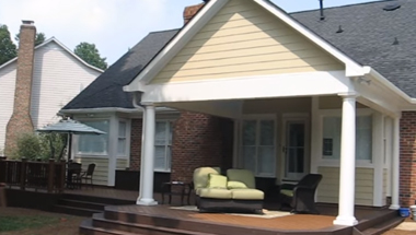 Trex Transcends Composite Deck and Rail under covered porch and patio  Thumbnail