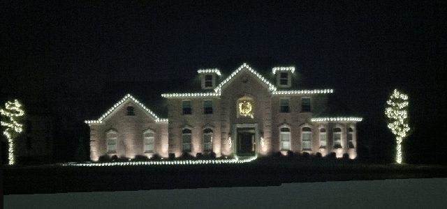 Holiday lighting at night