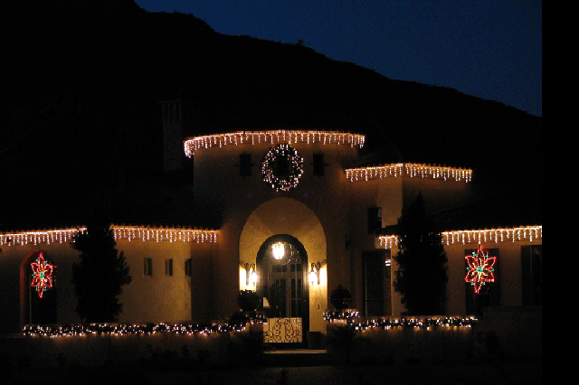 holiday outdoor lighting including landscape lighting