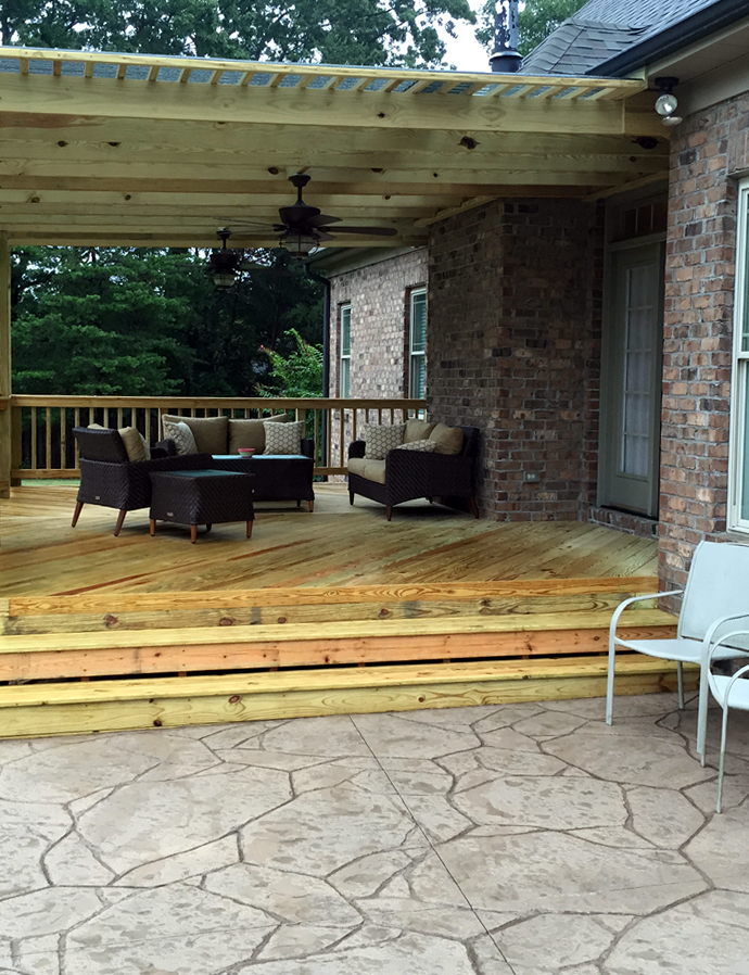 Greensboro deck and patio