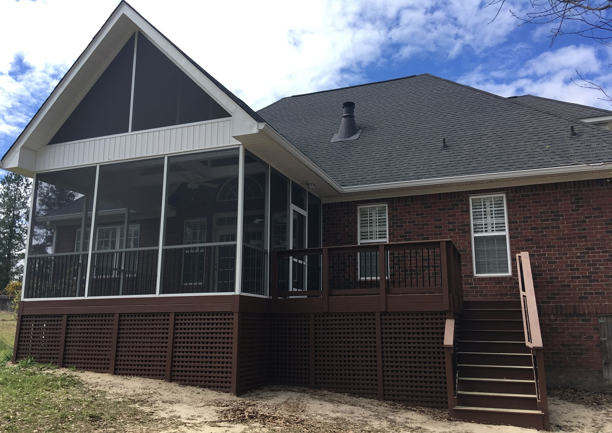 A Humble West Columbia Sc Deck Becomes An Exceptional Outdoor Living Combination Archadeck Outdoor Living
