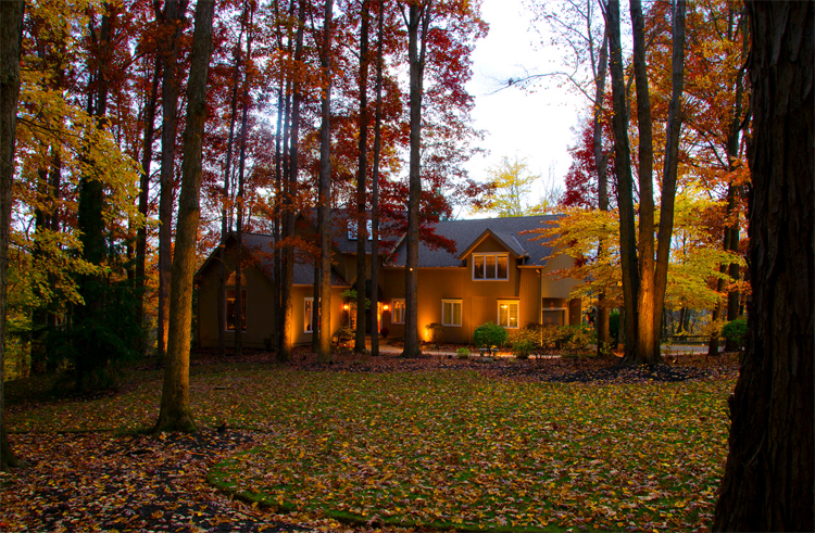 Fall Colors are more beautiful with lighting