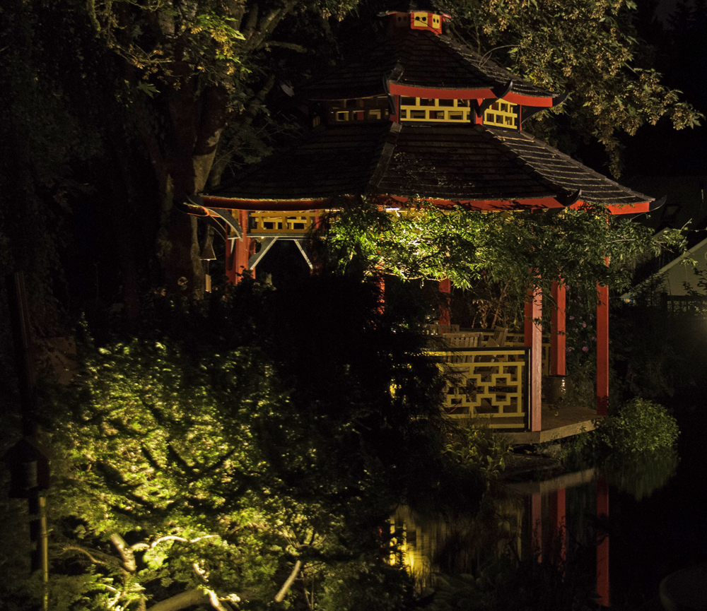 Outdoor living with woodinville landscape lighting outdoor pagoda lighting aloadofball Gallery