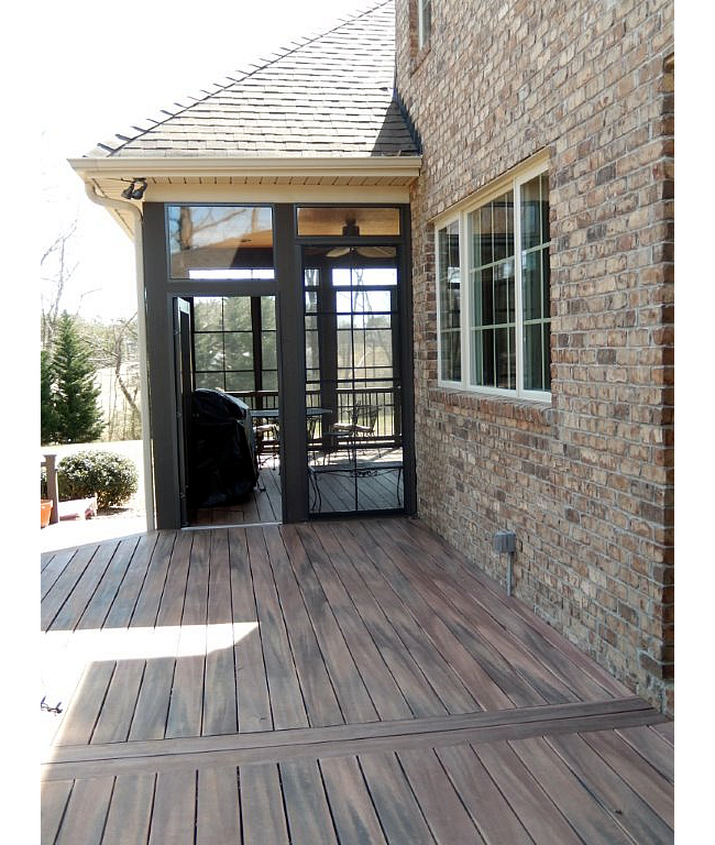 Greensboro composite deck and screened porch