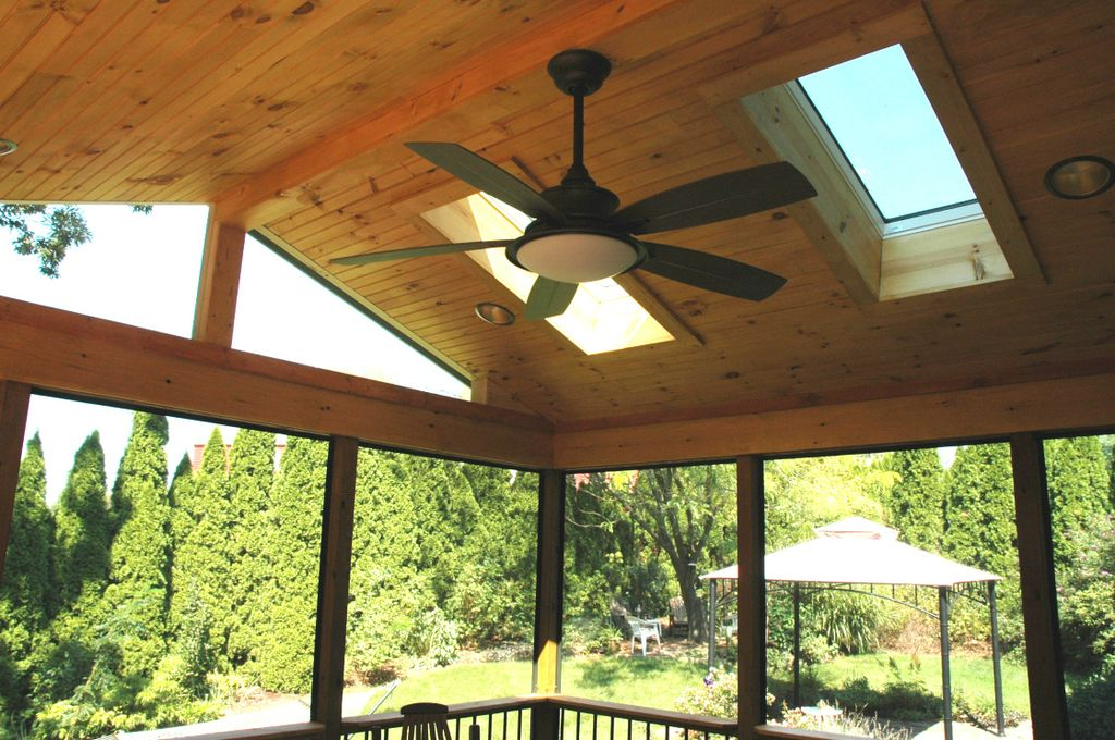 Porch-with-dual-sky-lights-and-ceiling-fan