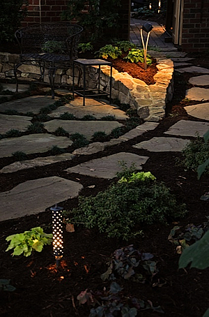 Charlotte landscape lighting design