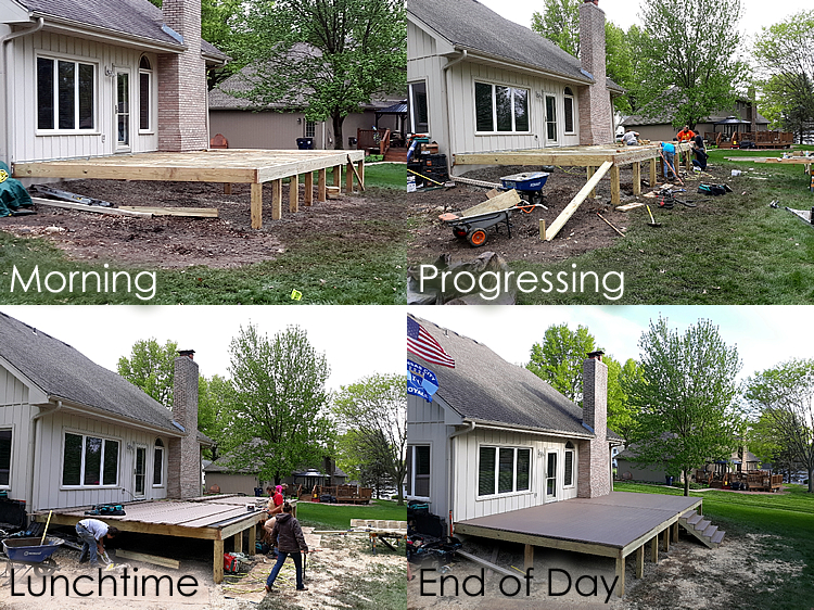 Blue Springs MO deck and porch framing