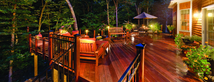Outdoor Deck Lighting by Outdoor Lighting Perspectives of DC Metro