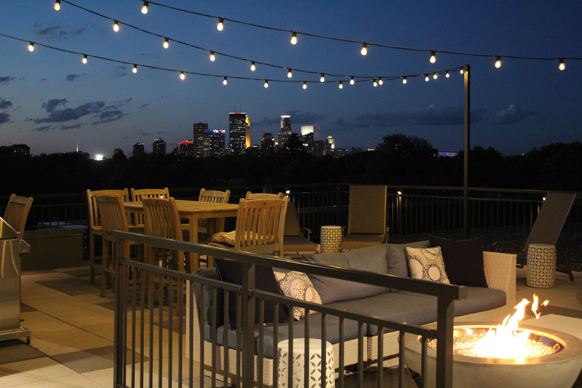 minneapolis commercial festive lighting encourages nighttime fun on