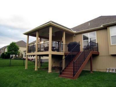 Lenexa open porch design
