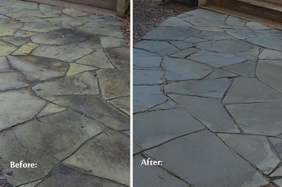 travertine pathway cleaning and sealing Charlotte NC