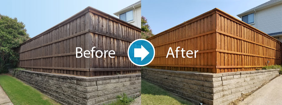 fence cleaning and staining in SouthPark area of Charlotte