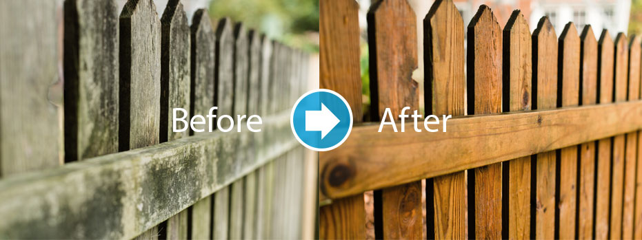 fence cleaning and staining in Lake Norman