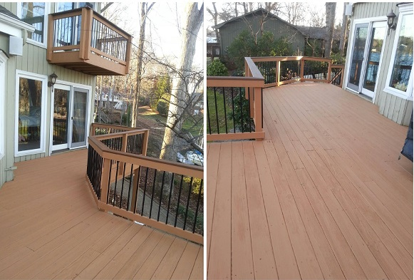 deck staining in Cotswold area by Renew Crew