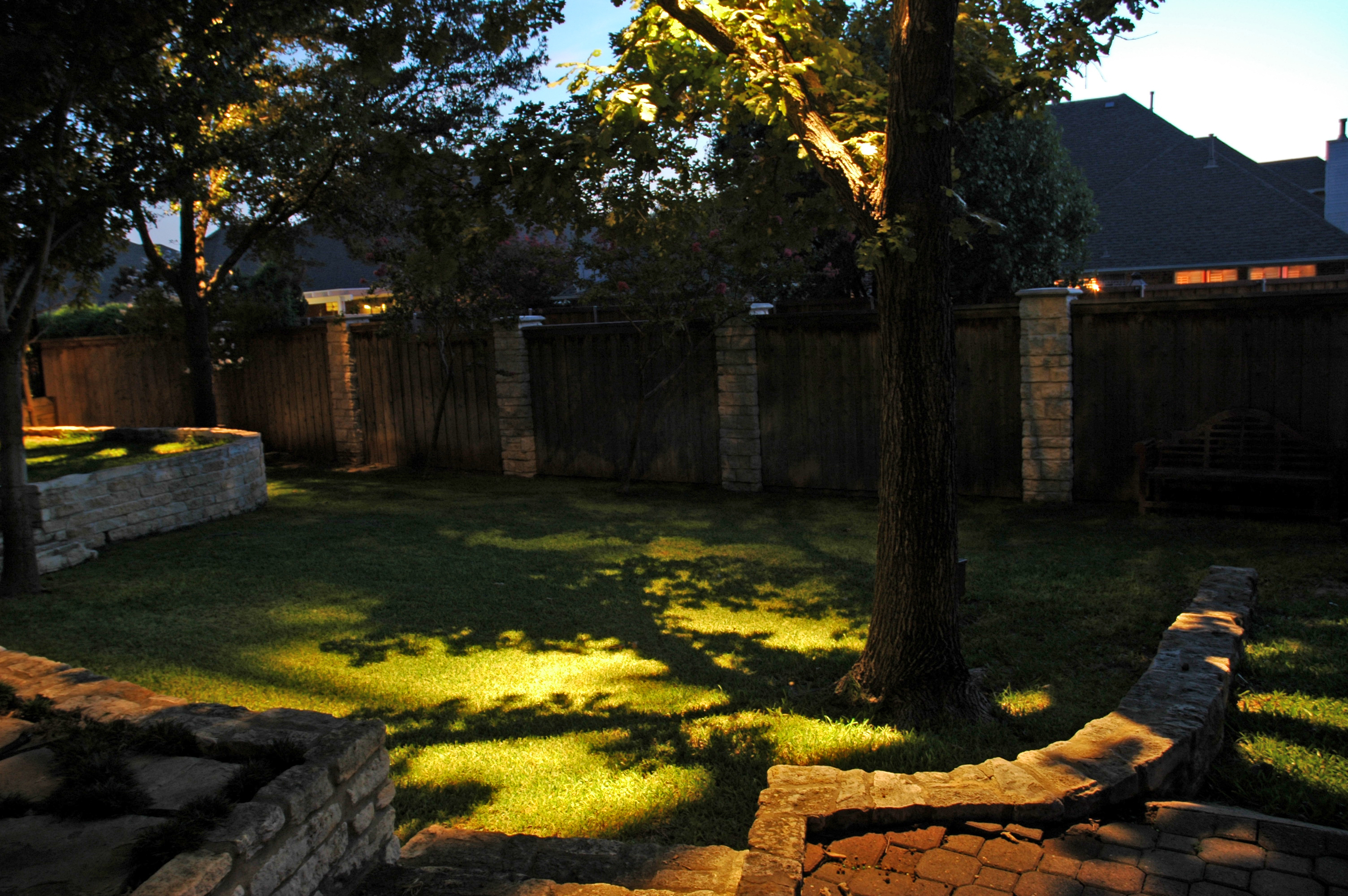 Down lighting vs uplighting in seattle outdoor lighting down lighting is essentially lighting a space with a light that shines down from above aloadofball Choice Image