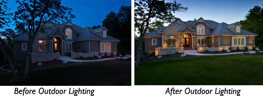 outdoor security lighting system Memphis TN