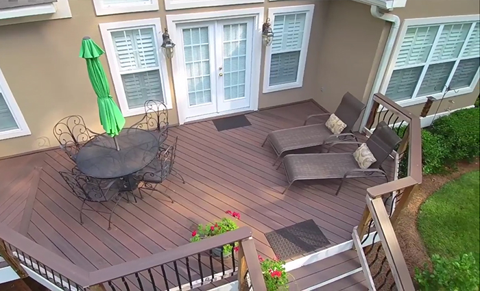 Milledgeville Fiberon Deck with Outdoor Kitchen Thumbnail