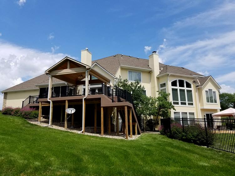 open porch and composite deck design