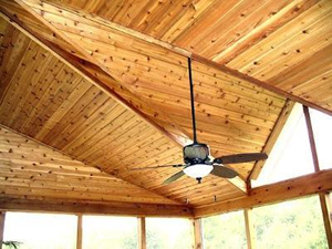 pine tongue and groove porch ceiling