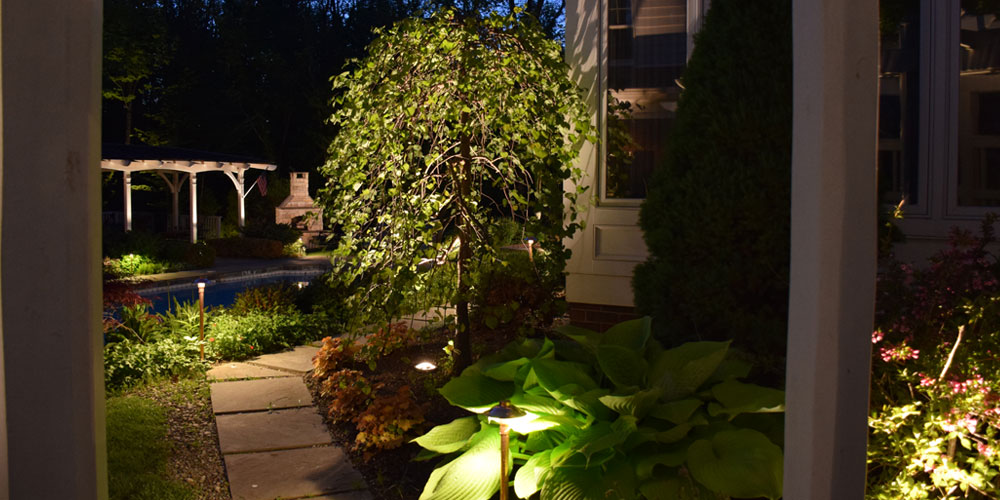outdoor lighting in Chagrin Falls Ohio