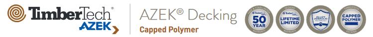 AZEK capped polymer PVC decking