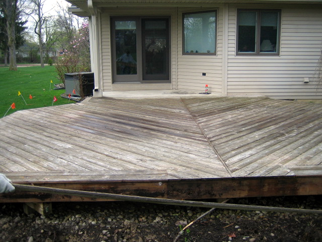 wood deck needs repair