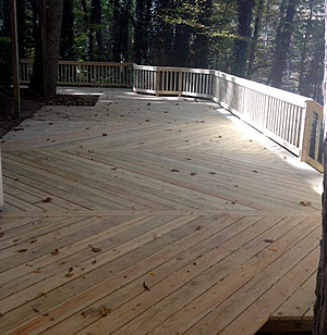 Greensboro wood deck