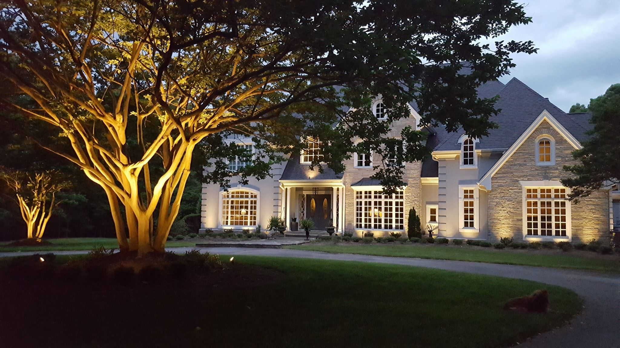 Our blog outdoor lighting perspectives in addition to bringing your homes facade to life at night outdoor lighting can do the same for your landscape cascading illumination that flows workwithnaturefo