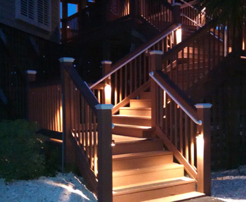 deck stair lighting