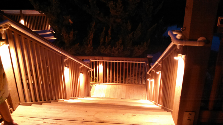 professional deck lighting