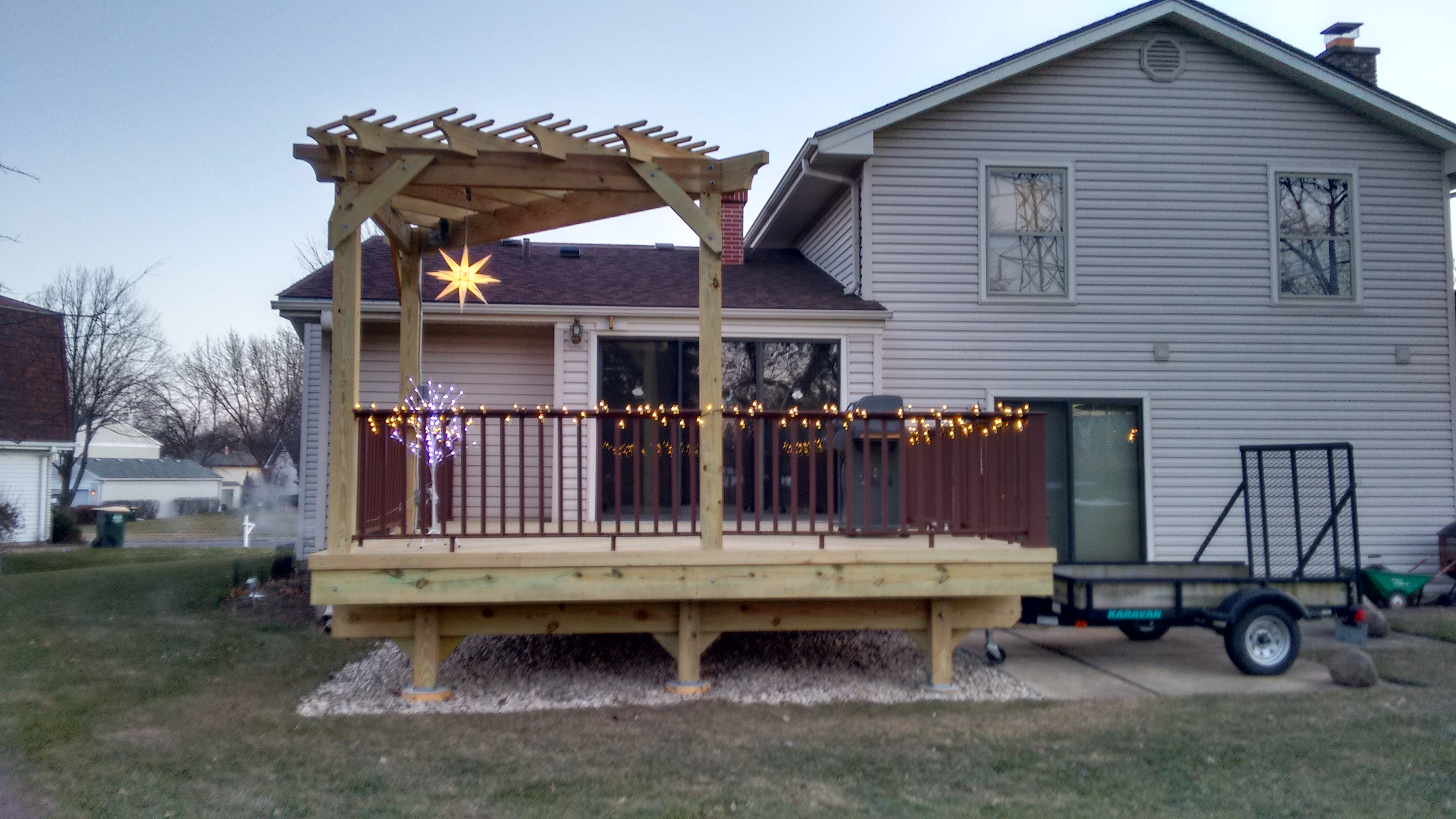 Wood Deck and Pergola in Libertyville, IL Thumbnail
