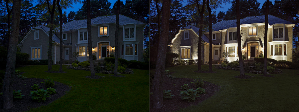 The outdoor lighting perspectives difference outdoor lighting free nighttime lighting demonstration aloadofball Gallery