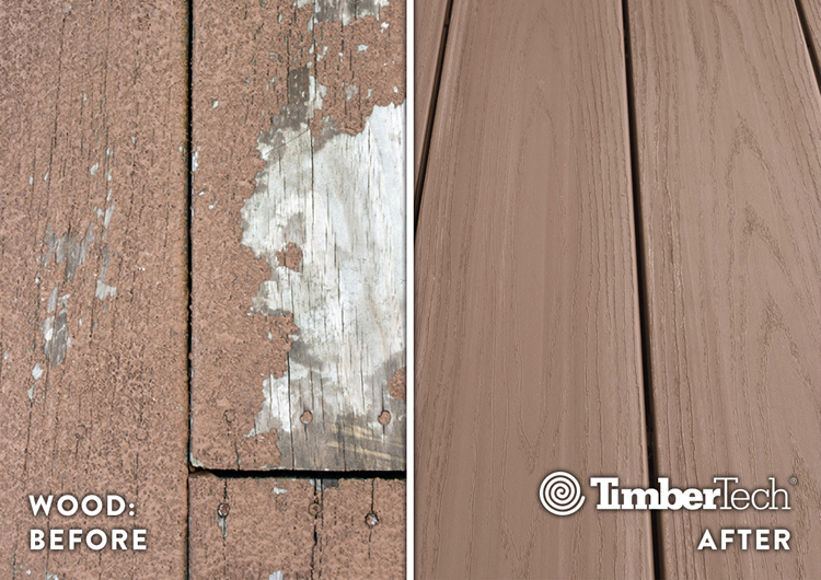 TimberTech vs. wood decking