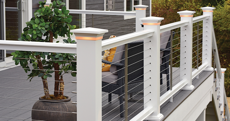 TimberTech railings and lighting