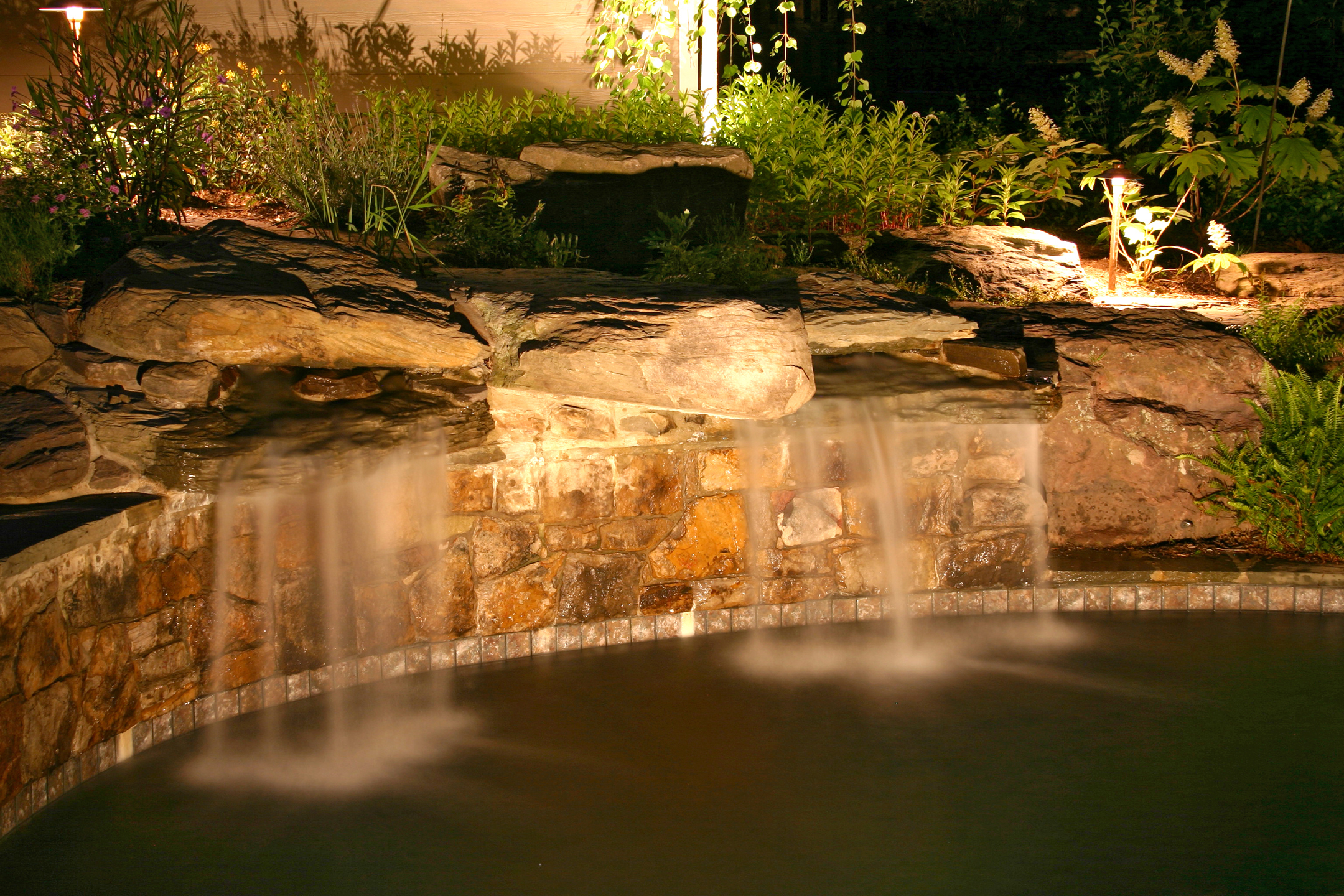 water feature lighting Raleigh NC