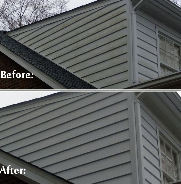 Before and after deck cleaning patio sealing charlotte nc - Exterior house washing charlotte ...
