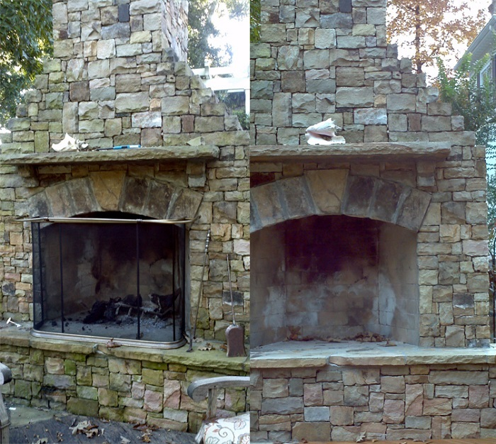 outdoor fireplace cleaning Charlotte NC