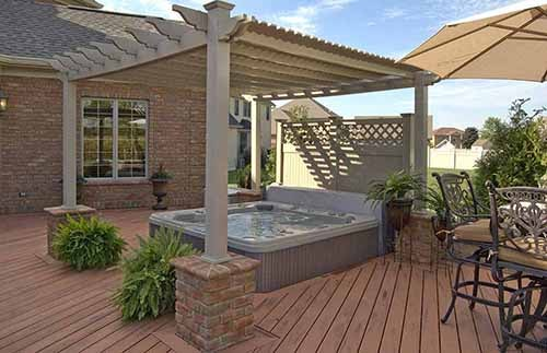 pergola and outdoor living space