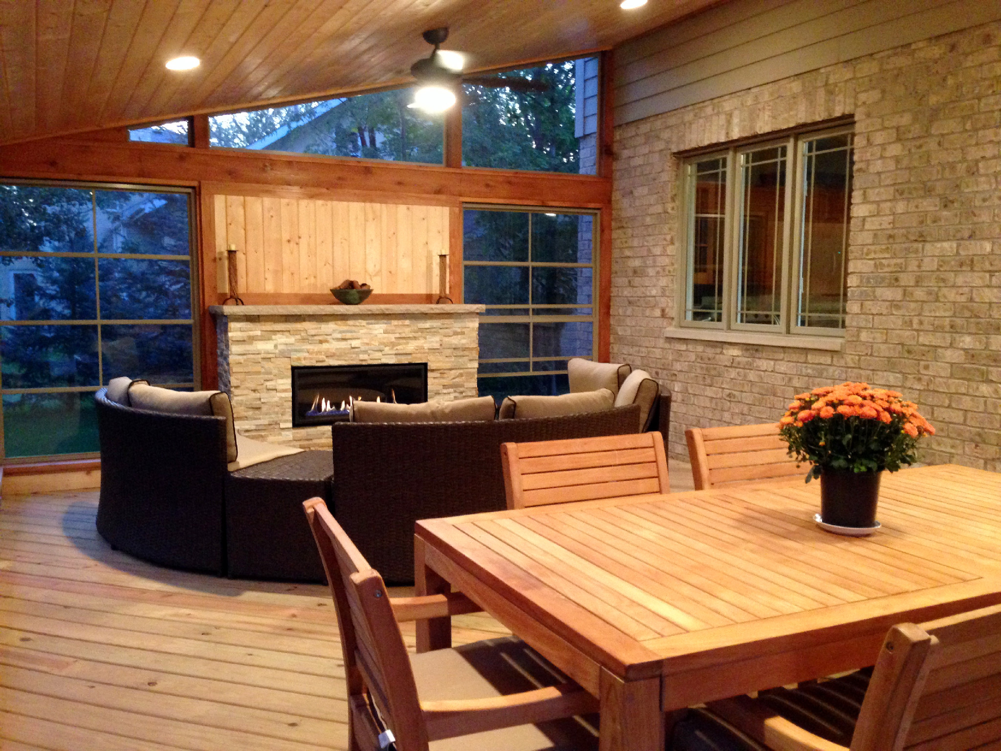 Understanding the difference between screened porches for Cedar sunroom