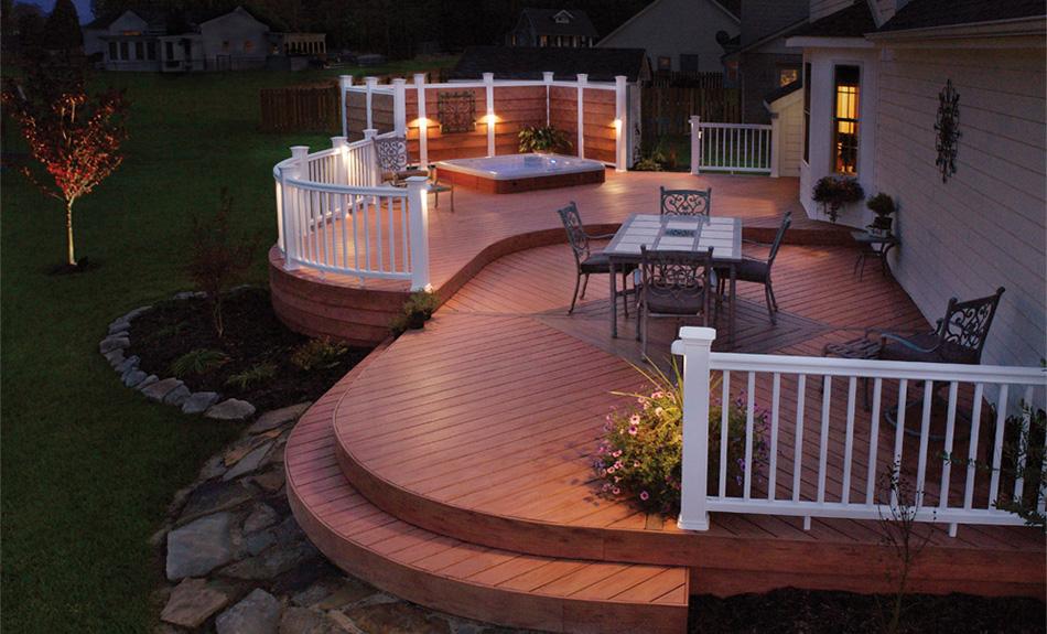 deck lighting in Dublin Ohio