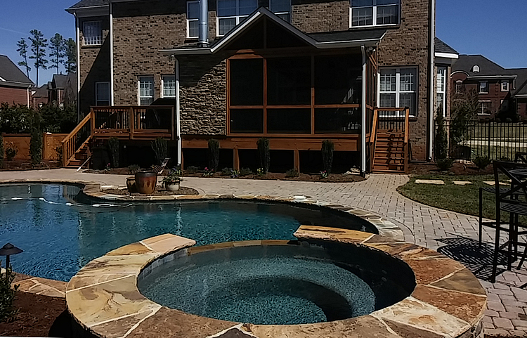 poolside patio, deck, screened porch