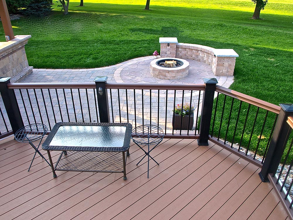 Deck, patio and firepit