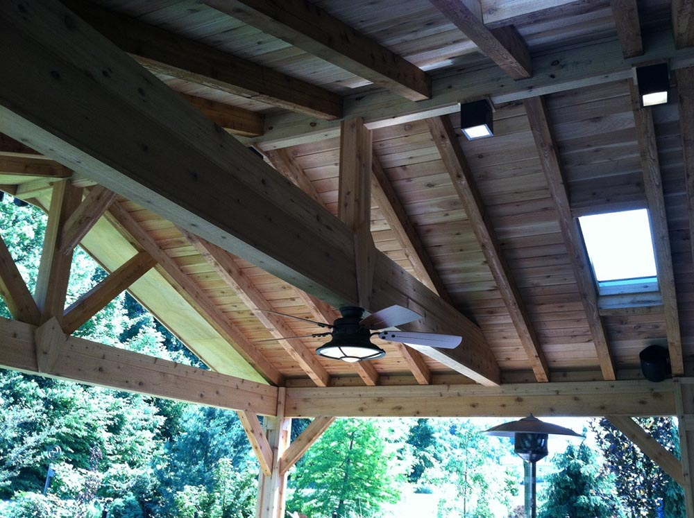 Covered porch roof